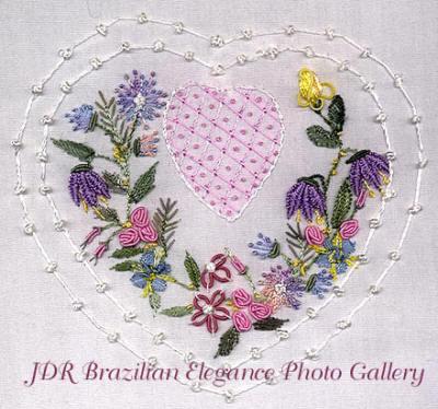 Brazilian Embroidery Design Rita's Heart JDR6100l